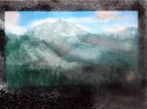 "Misty Mountain, 8""x 10"", 2015"